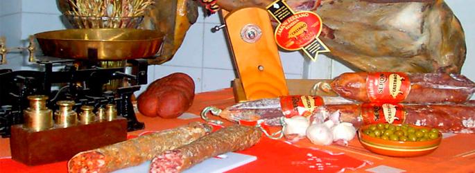 banner jamones embutidos castaño