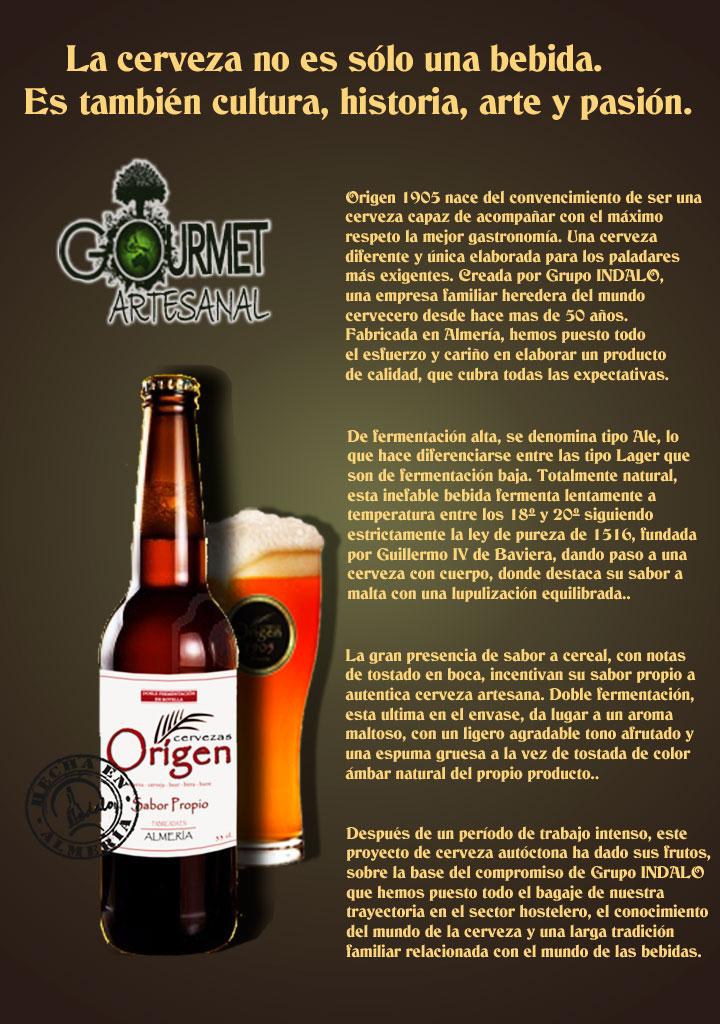 cartel cerveza origen ok