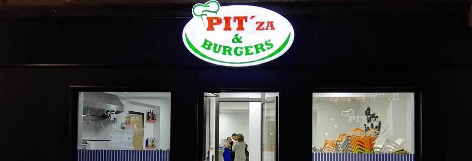 banner pitza burgers