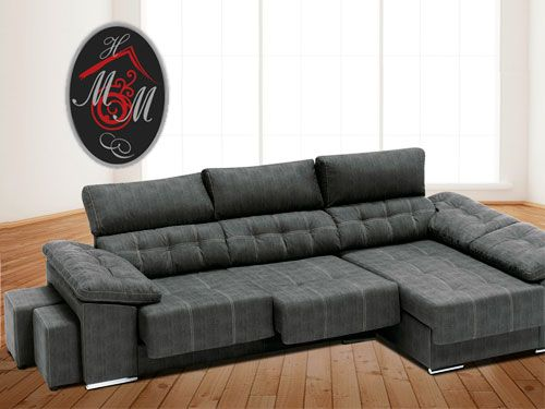 Shaiselongue con arc n por 699 mueble hogar milenium for Muebles milenium catalogo