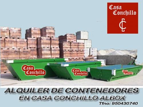 Alquiler contenedores en casa conchillo materiales de - Materiales construccion murcia ...