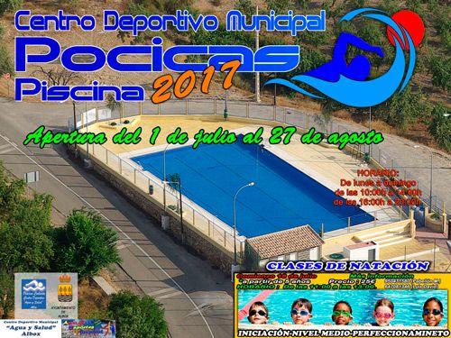Apertura piscina de las pocicas y cursos de nataci n 2017 - Piscina el guerra granada precios 2017 ...