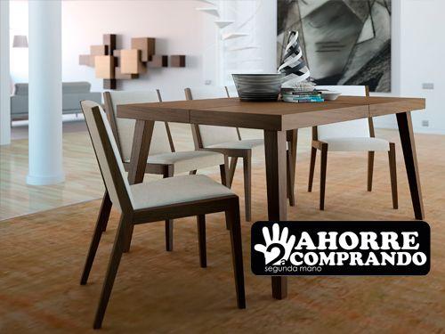 Conjuntos mesa sillas de comedor desde 160 segunda for Sillas madera segunda mano