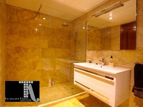 Marmol para baos cubierta de marmol fiorito para lavabo with marmoles para baos griferia para - Banos con marmol travertino ...