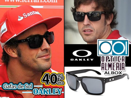 2c871fe984df5 40% descuento en Gafas de Sol OAKLEY estilo deportivo en Óptica Almería,  Albox. Siéntete como Fernando Alonso