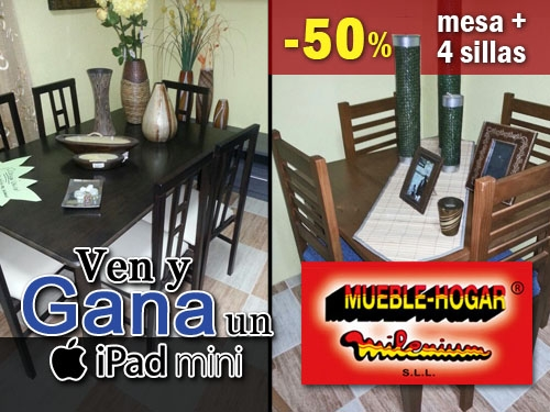 50 descuento en pack completo de mesa 4 sillas de for Oferta comedor completo