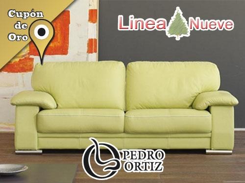 Sof pedro ortiz tapizado en piel por s lo 690 euros en for Ofertas de sofas en piel