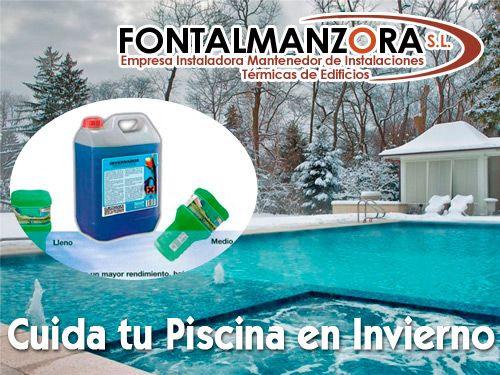 Disfruta de tu piscina en invierno fontalmanzora sl de for Mantenimiento piscina invierno