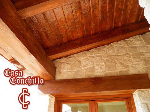 Viste tu jard n terraza o porche con vigas de madera for Vigas de madera para jardin