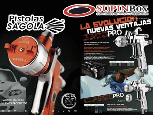 Pistola Sagola en Suministros de Pintura Albox y Olula del Rio. Supinbox