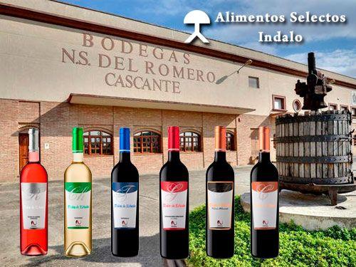 Lote Vino de la Bodega Nuestra Señora del Romero con Alimentos Selectos Indalo, Cuevas del Almanzora