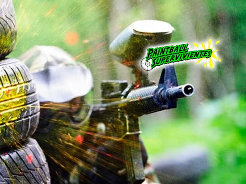 ¡Paintball 50 ó 100 bolas, Reportaje Fotográfico, Monitor y Seguros! Pintball en Almería con Paintball Supervivientes