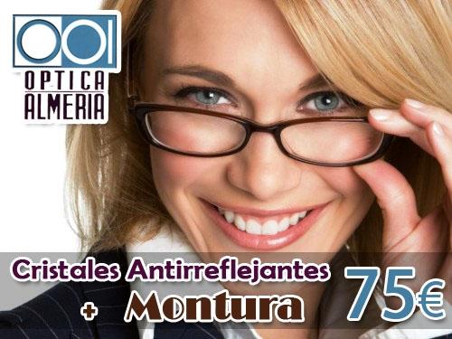 OFERTA: Montura + Cristales Antireflejantes por 75 Euros en Óptica Almería, Albox