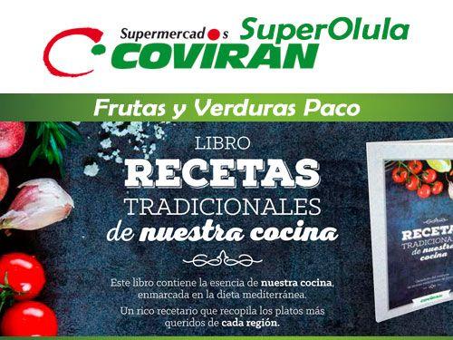 Libro de Recetas Tradicionales ricas y sanas en Super Olula Covirán, supermercados en Olula del Río
