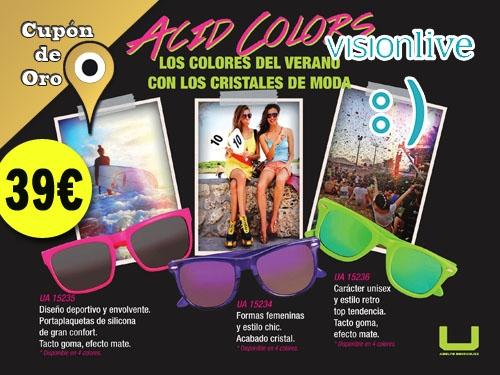 Tus Gafas Acid Colors de U, Adolfo Domínguez por 39€ en Visionlive Albox