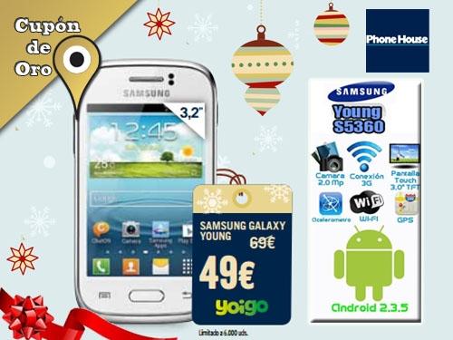 4aa2473e28e Samsung Galaxy Young desde 49€ con Yoigo en Phone House Albox