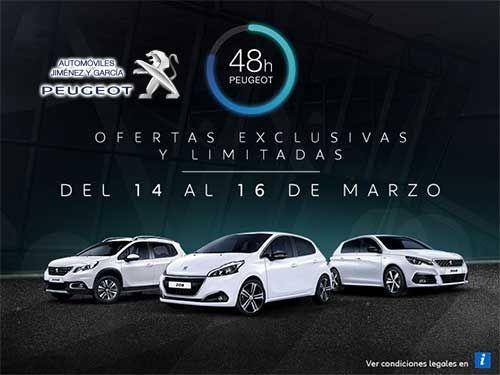 Vuelven las 48Horas Peugeot. Consulta en tu concesionario Automóviles Jiménez y Garcia-Peugeot de Albox
