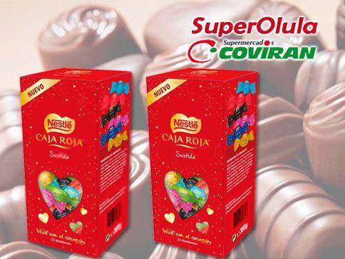 Bombones Caja Roja de Nestle formato ahorro en Super Olula Covirán, supermercados en Olula del Río