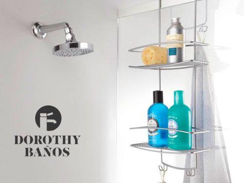 Organiza tu ducha con nuestras estanter as dorothy ba os for Estanterias ducha bano