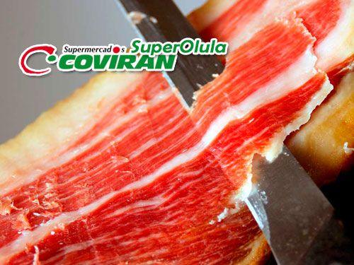 Jamón Reserva Navidul por 60€/pieza en Super Olula Covirán, supermercados en Olula del Río