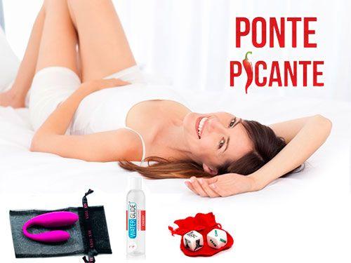 Cesta erótica con Juguete Pretty Love para parejas, Lubricante y Juego de Dados por 69€. Ponte Picante en Vera, sexshop en Almería