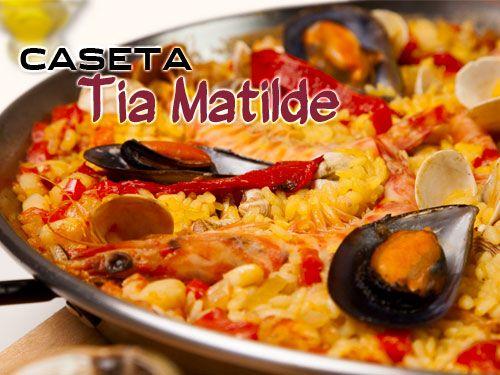 Paella, Ensalada, Bebida y Postre en la Balsa de Cela por 10€!! . Caseta Tia Matilde, Restaurantes en Cela