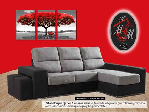 Chaiselongue por 289 mueble hogar milenium for Muebles en almeria ofertas