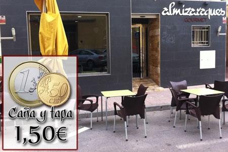 Junio de Tapas en Almizaraques Gourmet en Albox, quinto cerveza o vino y tapa por 1.50€