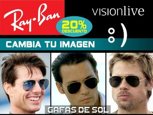 20% descuento en gafas de sol Ray-Ban en Visionlive, las mejores ofertas en Albox