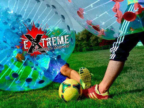 Juega al Fútbol Burbuja y vive una experiencia diferente, por 18€. Extreme Adventure Mojácar, actividades en Mojácar