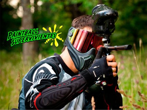 ¡Paintball 50 ó 100 bolas, Reportaje Fotográfico, Monitor y Seguros! Paintball Supervivientes