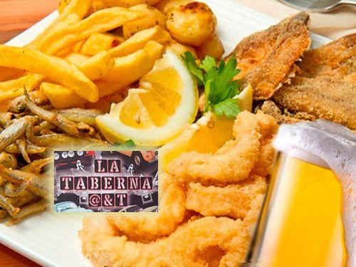Fritura de Pescado + Jarra de Cerveza para 4 pax. por 19.90€, en La Taberna @&T, bares en Albox