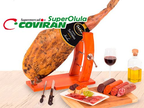 Paleta Serrana DEORO, Pieza + Cuchillo + Afilador por 17.95€. Super Olula Covirán, supermercados en Olula del Río