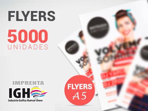 Atento!! 5000 flyers, ambas caras a todo color, papel estucado,..¡sólo 70 Euros! Industrias Gráficas Huércal-Overa