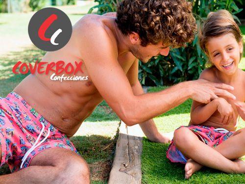 Diseño de Bañador para hombre y niño en Coverbox, confección de Bañadores