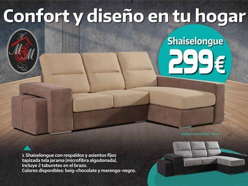 Shaiselongue por 299€!! Mueble Hogar Milenium, distribuidor de muebles en Almería