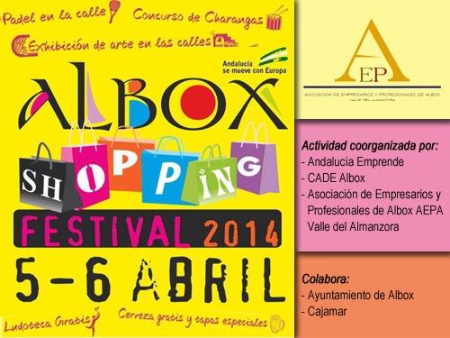 Ven de compras el 5 y 6 de abril al Festival Shopping de AEPA en Albox -Almería-