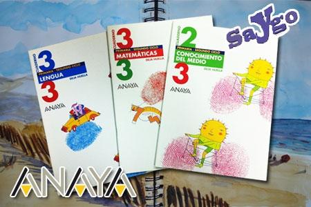3 Cuadernos ANAYA de repaso en vacaciones por 3€ en Papelería Saygo