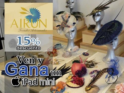 15% descuento en tocados y complementos artesanales en Airun Tocados Serón-Almeria