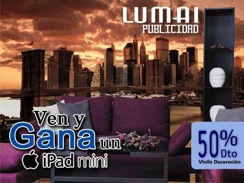 Papel adhesivo para pared  impresión calidad fotográfica a mitad de precio en Lumai Publicidad de Tíjola
