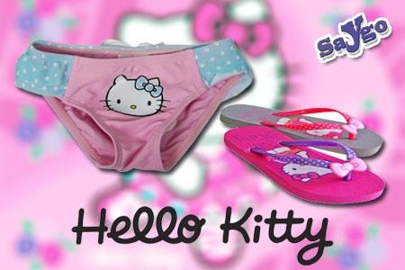 Bañador niña y chanclas Hello Kitty por 13.90€ en vez de 19.90€ en Regalos Saygo