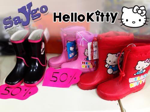 Botas de Agua Hello Kitty por 12 Euros en Papeleria Saygo de Albox