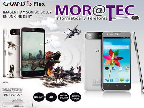 Smartphone ZTE Grand S Flex con Funda y Auriculares por sólo 165.95€ en Moratec Tíjola