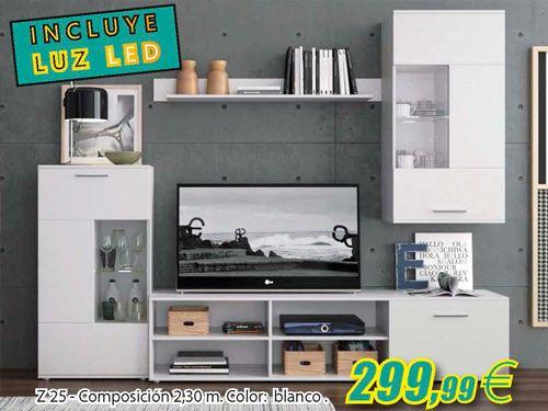 Composiciones modernas y funcionales por 299.99€!! Mueble Hogar Milenium de Zurgena, distribuidor de muebles en Almería