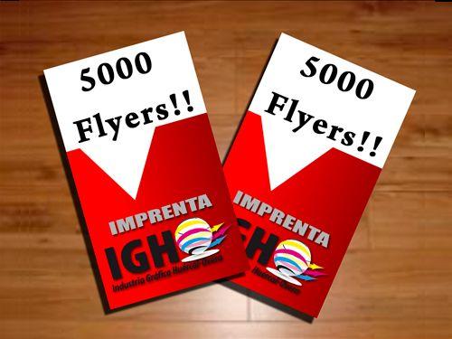 5000 flyers, ambas caras a todo color, papel estucado,..¡por 70 Euros! en Industrias Gráficas de Huércal-Overa
