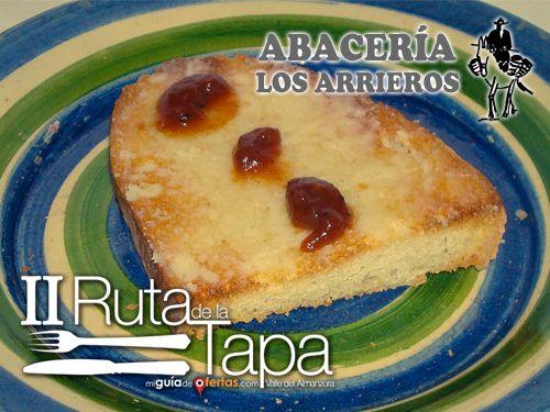 II Ruta de la Tapa en Abacería Los Arrieros de Serón: Tosta de Paté de Queso Seronés y Mermelada de Tomates Raf