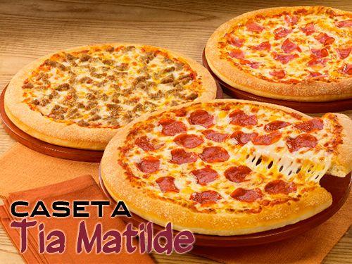 2 Pizzas grandes + 1 Gratis con 4 Bebidas en Restaurante Caseta Tia Matilde de Cela- Lúcar