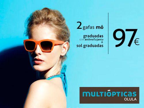 ad08fcb9b8 2 Gafas Mo Graduadas Sol y Antireflejantes, Multiópticas, ópticas en Olula  del Río