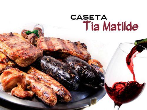 Deliciosa Parrillada de Carne + Botella de vino Ribera. Bar Caseta Tia Matilde, Restaurantes en Cela