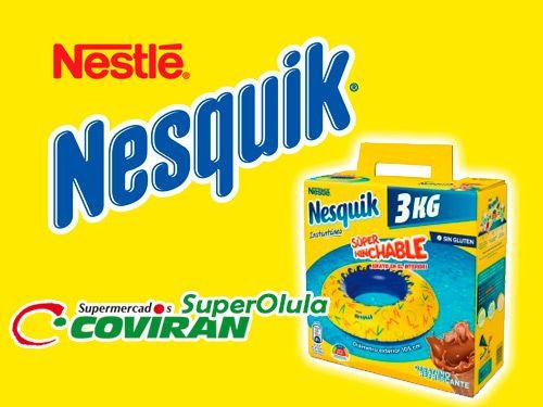 Nesquik 3kg + Regalo de Super Hinchable Playa, en Super Olula Covirán, supermercados en Olula del Río